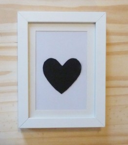 Simple Framed Heart £12