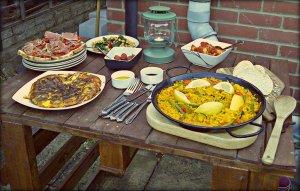 Our tapas table
