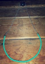 Beaded 'U' Necklace