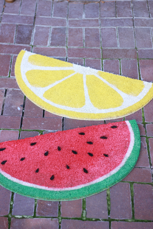 watermelon-and-lemon-welcome-mats
